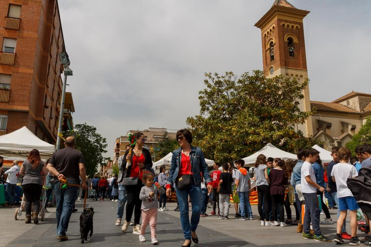La plaça de l'Abat Oliba