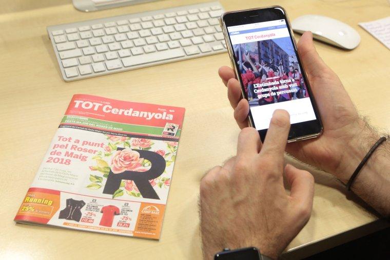 TOT Cerdanyola, revista local de referència des de fa 31 anys, va fer el salt al format digital ara fa un any
