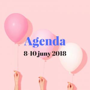 Agenda del 8 - 10 de juny 2018