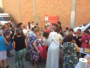 Els usuaris de la Creu Roja van participar de la trobada amb activitats i berenar