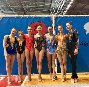 Les gimnastes cerdanyolenques amb companyes d'esport
