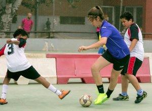 Una de les activitats de la festa de cloenda dels Jocs Esportius Escolars de Cerdanyola
