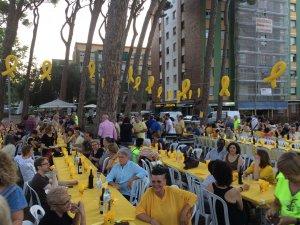 El Sopar Groc es va celebrar als Pinetons de Fontetes