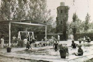 La piscina de Cordelles que formava part de la urbanització
