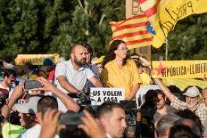 Concentració en suport als presos polítics davant de la presó de Lledoners.