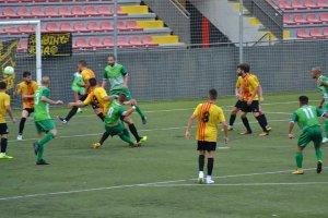 Imatge del partit entre la UE Sant Andreu i el Cerdanyola FC