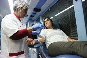 Imatge d'una donació de sang