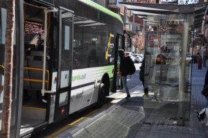 Parada de transport públic a Ripollet