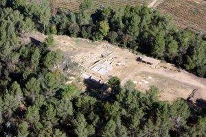 Vista aèria del jaciment de la Font de la Canya