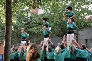 Actuació dels Castellers de Cerdanyola