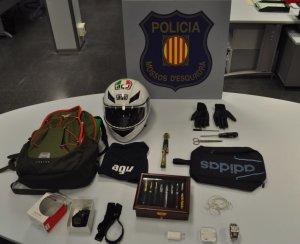 Objectes que portava el detingut