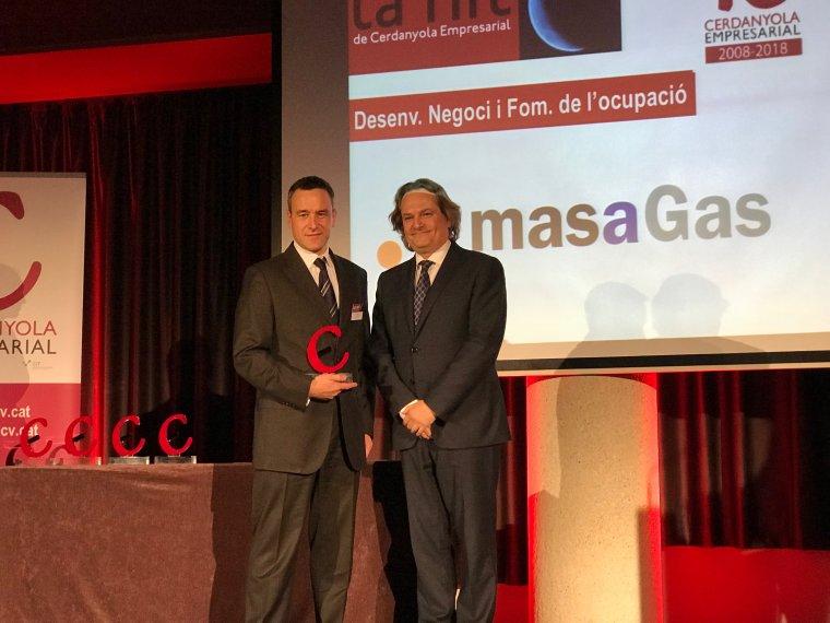 Masagas també va rebre un guardó en la Nit de Cerdanyola Empresarial