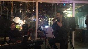 Frans Cuspinera i Maria Poyatos al concert de la Petanca el 10 de desembre
