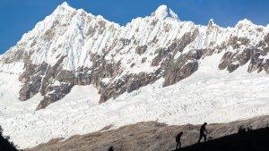 Imatge d'arxiu de la Cordillera Blanca, serralada de la província de Huaraz, on hi ha el Nevado Mateo