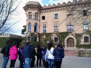 Imatge d'una visita guiada al Castell de Sant Marçal