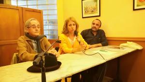 D'esquerra a dreta: Salvador Mañosa, Helena Solà, Juan Antonio Hidalgo