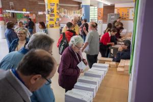 Les imatges de les eleccions 28A a Cerdanyola del Vallès