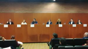 D'esquerra a dreta: Joan Sánchez, Sonia Rodríguez, Carles Escolà, Carlos Cordón, Helena Solà, Manuel Buenaño i María Reina.
