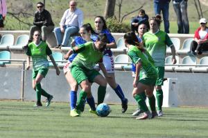 El Cerdanyola FC Femení en un partit anterior