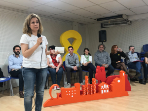 Helena Solà i membres de la llista d'ERC per les municipals