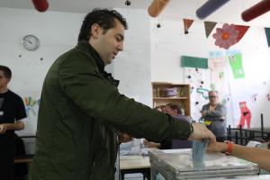 La jornada d'eleccions municipals i europees a Cerdanyola del Vallès