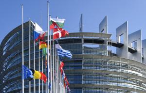 L'exterior de l'edifici del Parlament Europeu