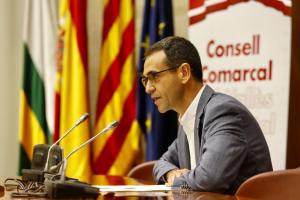 El president del Consell Comarcal, Ignasi Giménez