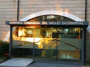 Entrada de la seu del Consell Comarcal del Vallès Occidental