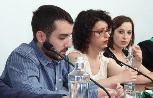Ivan González, Vera Sánchez i Laura Benseny són els tres regidors de Guanyem