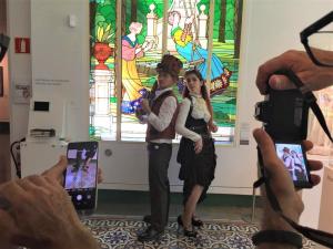 Un dels emplaçaments on han tingut lloc les sessions fotogràfiques ha estat el Museu d'Art de Cerdanyola