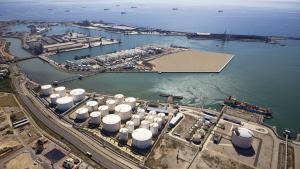 Imatge aèria del Moll de la Química del Port de Tarragona.