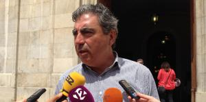 Albert Abelló, portaveu del grup municipal de Convergència a l'Ajuntament de Tarragona, aquest dimecres en roda de premsa.