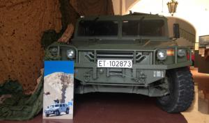 Imatge de l'exposició sobre l'actuació de l'exèrcit espanyol a Líbia.