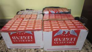Els paquets trobats per la Guàrdia Civil.