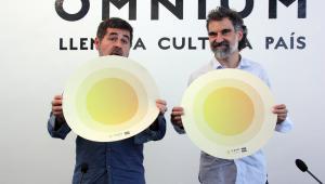 Jordi Sànchez (ANC) i Jordi Cuixart (Òmnium).