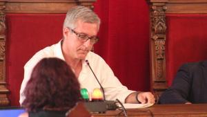 L'alcalde Josep Fèlix Ballesteros, durant el ple.