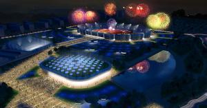 Imatge virtual de la piscina olímpica, dins de l'Anella Mediterrània de Campclar.