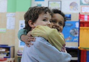 Els alumnes del Col·legi Sant Domènec aniran feliços a l'escola.