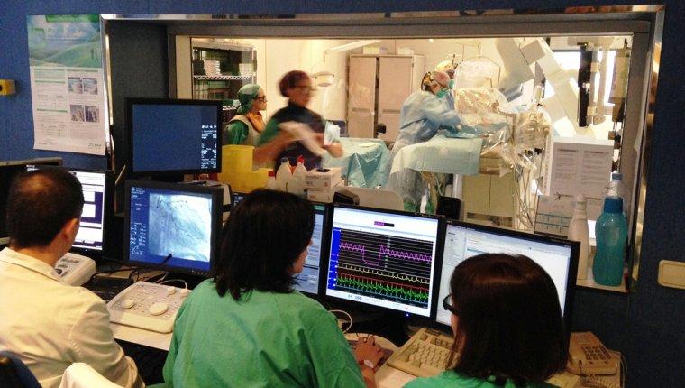 La sala d'hemodinàmica de l'Hospital Joan XXIII.