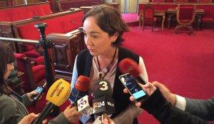 Begoña Floria, tinent d'alcalde de Seguretat de l'Ajuntament de Tarragona, ha atès els mitjans de comunicació en acabar el ple.