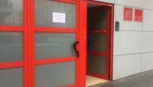 La seu del PSC a Tarragona, aquest diumenge.