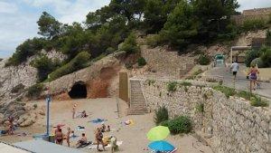 Imatge actual de la platja de Cala Font de Salou