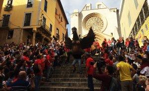 La Víbria ha aparegut baixant les escales de la Catedral de Tarragona.