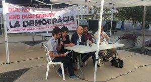 L'acte ha comptat amb les intervencions de Mireia Boya (CUP), Francesc-Xavier Grau (ex-rector de la URV), Oriol Corral (Som Gramenet) i Xavi Puig (ERC).