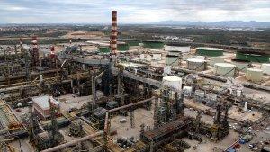 Vista aèria del Complex Industrial de Repsol a Tarragona.