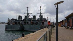 Els dos vaixells que han arribat al Moll de Costa.