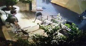 La terrassa ha quedat destrossada.
