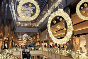 Imatge de la nova decoració nadalenca de Parc Central.