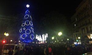La Rambla Nova de Tarragona ha estat escenari de la festa d'encesa de llums.