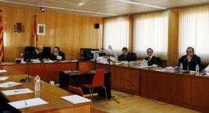 La sala de vistes de l'Audiència de Tarragona en l'inici del judici contra Ramon Franch (del qual no s'han permès enregistrar imatges).